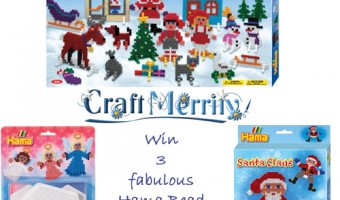 Competition: Win 3 Christmas Hama Bead Kits from CraftMerrily.