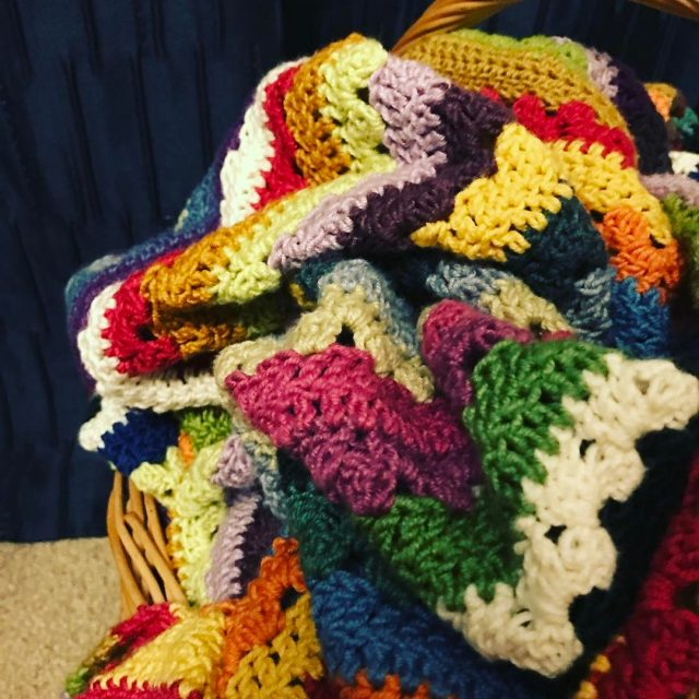 I really love this crochet cosystripeblanket and how different ithellip