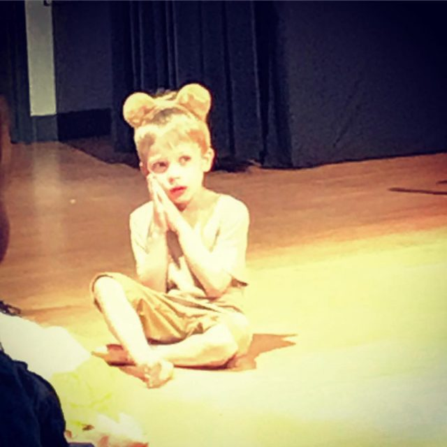 Bene Bear in his first school show