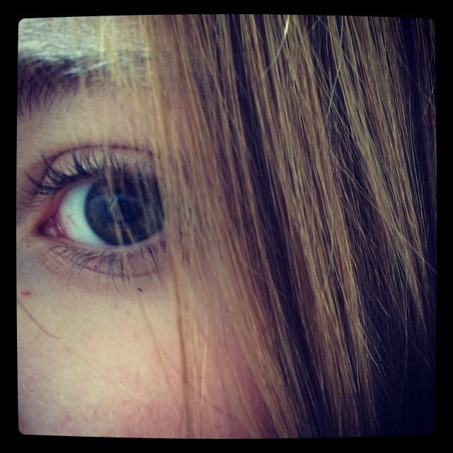 teen girl's eye