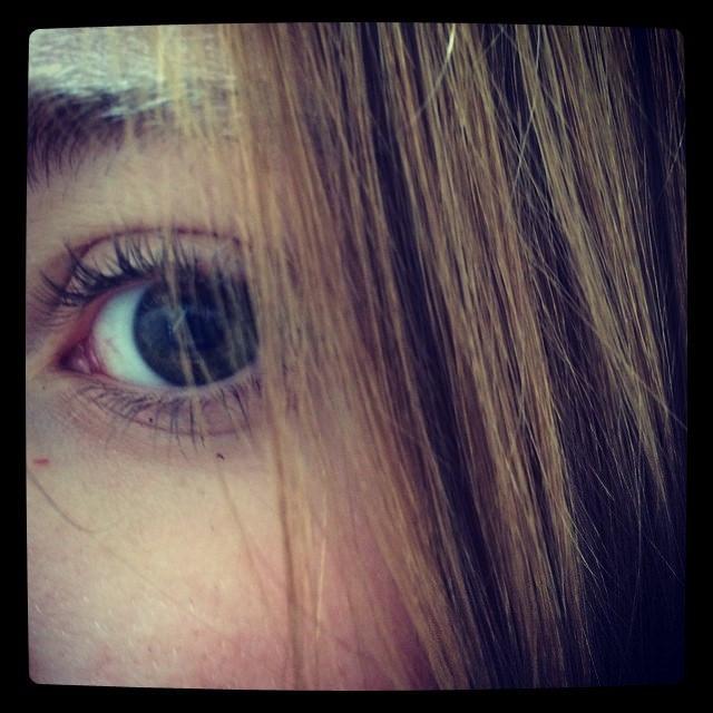 teen girl's eye