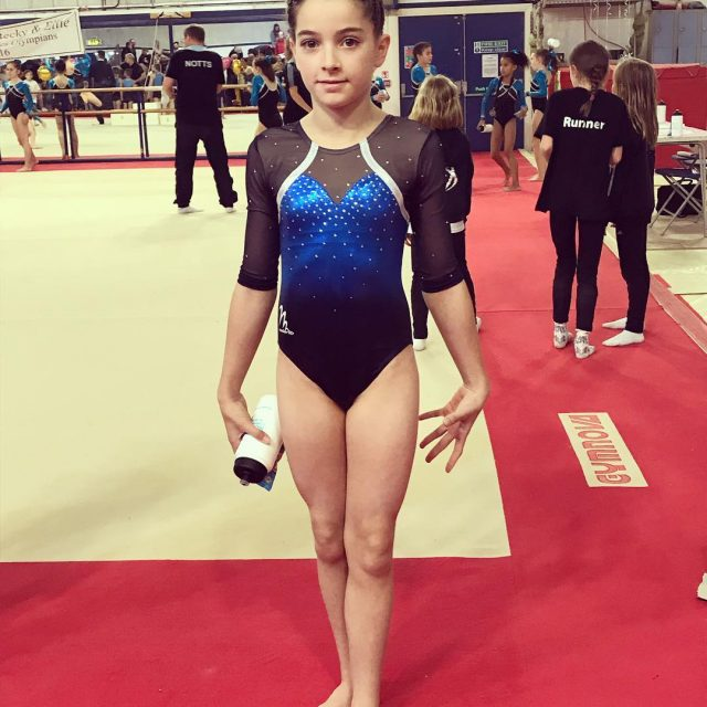 My lovely little gymnast girl after her competition today